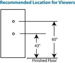 Install a Door Peephole in 5 Steps | DoItYourself.com |Door Peephole Height Standard